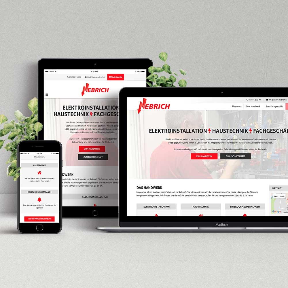 Webdesign & Programmierung Elektro Nebrich