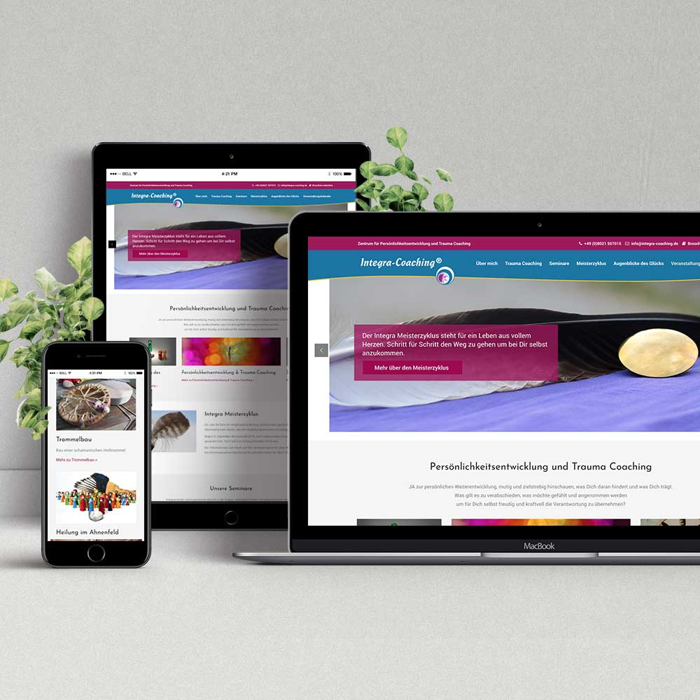 Webdesign & Programmierung Integra-Coaching®
