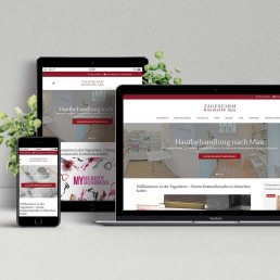 Webdesign & Programmierung TAGESFARM Kosmetik Spa
